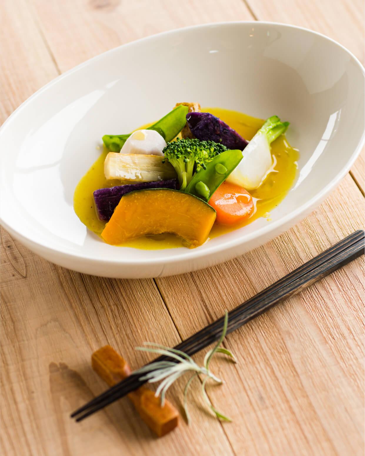 ごろごろ野菜の温サラダ