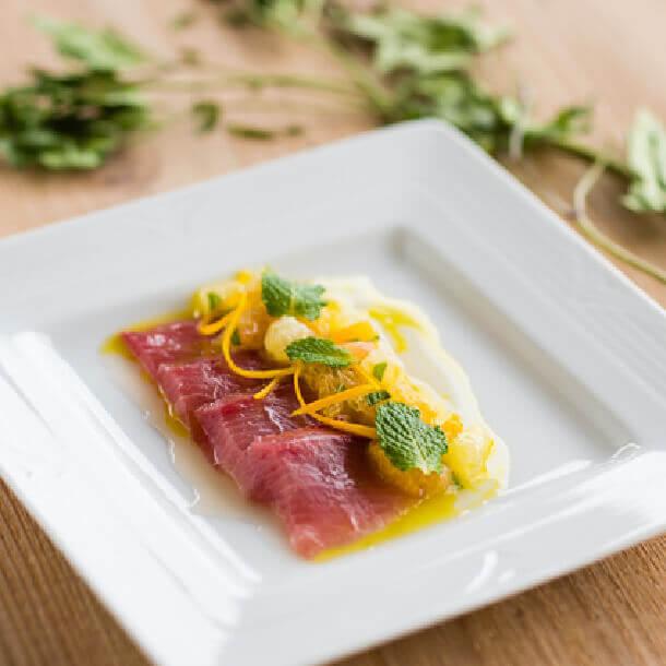 鮮魚とかんきつ類のさわやかカルパッチョ