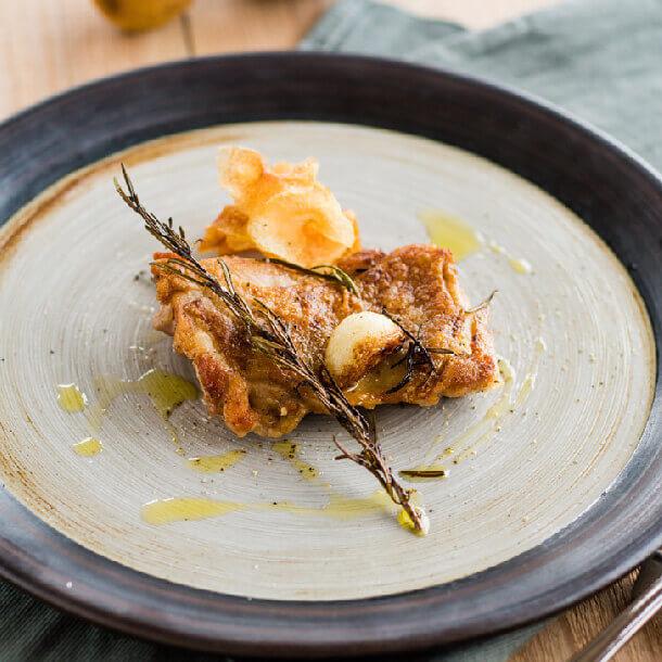 鶏モモの香草焼き